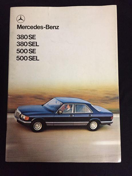 Prospekt / folder Mercedes-Benz W126 380/500 SE/SEL