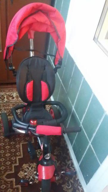 Детский велосипед 3 - х колёсный с родительской ручкой