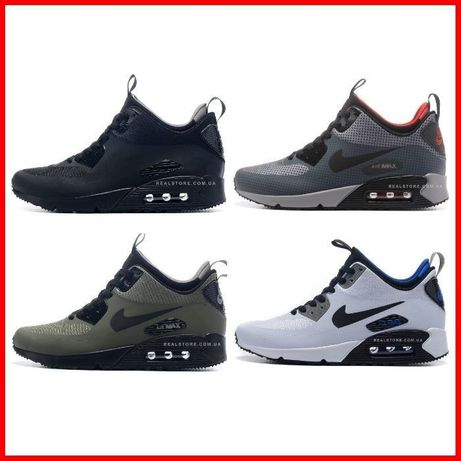 Кроссовки Nike Air Max 90 MID Winter. Найк Аир Макс 90 зимние.