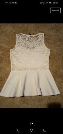 Biała koronkowa bluzeczka