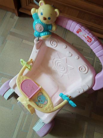Wózek pchacz dla dziewczynki
