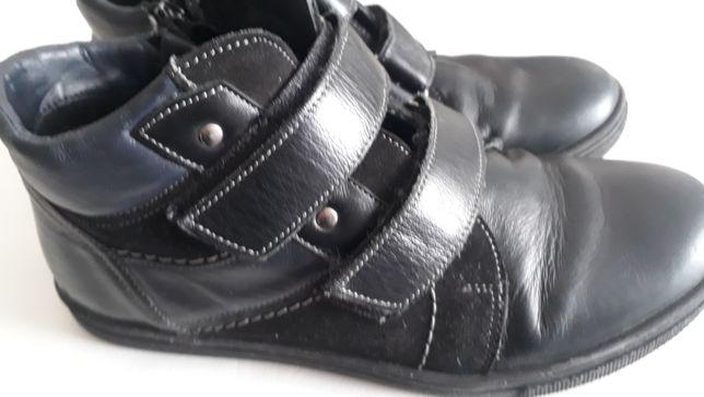 Ботинки шикарные натуральная кожа р.36 Львов чоботи, осень полу-сапоги