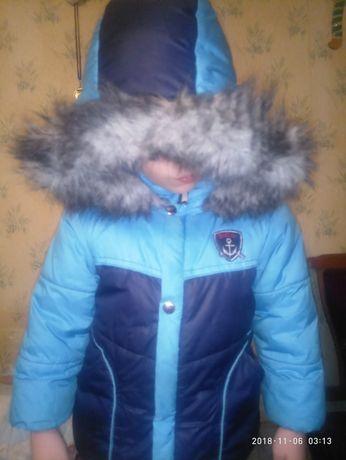 Комбинезон, термокостюм зимний для мальчика: куртка с капюшоном, штаны