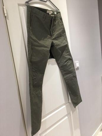 Spodnie chinosy skiny fit, materiałowe H&M