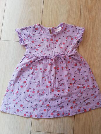 Sukienka fioletowa królik myszka r. 86