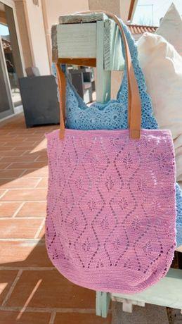 Carteira feita à mão Crochet - Lilás