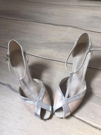 Sensatiano buty taneczne slub wesele skora naturalna