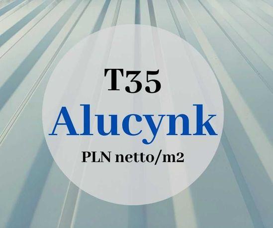 T35 blacha trapezowa blachy trapezowe na dach Alucynk płyty warstwowe