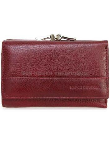 Стильный кожаный кошелек бордового цвета Marco Coverna