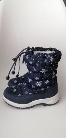 Buty zimowe śniegowce kozaki Nelli blu 31 wkładka 19,5cm