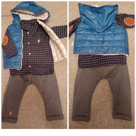 Рубашка,жилетка ,штаны (новый) 0-6месяцев