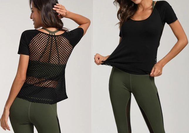 Damska koszulka sportowa treningowa sportowe bluzka Top Fitness Yoga