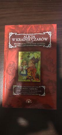 Książka Alicja w krainie czarów po drugiej stronie lustra.