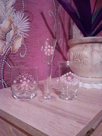 Миниатюрная вазочка. Маленькая вазочка. Набор вазочек. Маленькая ваза.