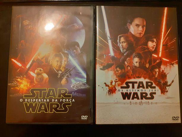 Conjunto 2 DVDs Star Wars