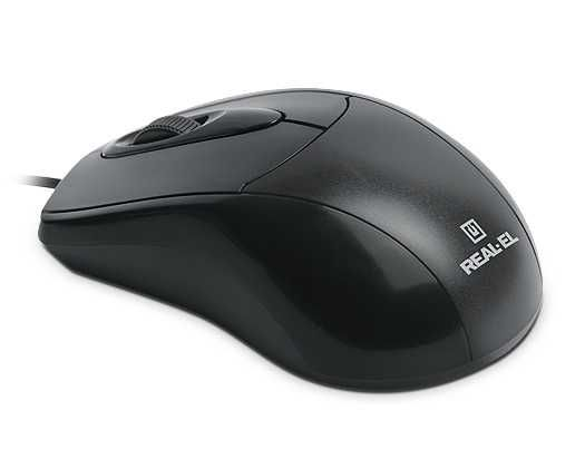 Мышь Real-El RM-207 USB Black