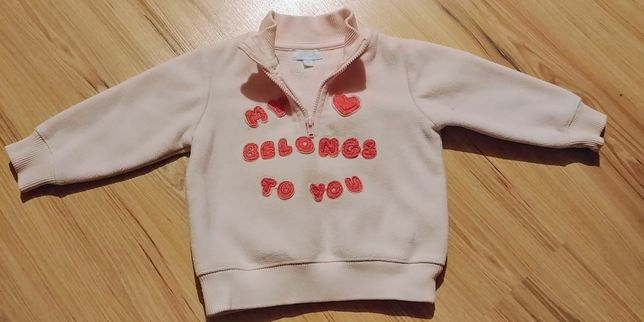 Śliczna bluza dla dziewczynki r.68