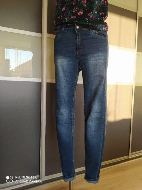 Spodnie damskie jeansy denim r.38