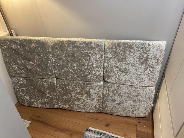 Zagłówek łóżka szary 140x80cm