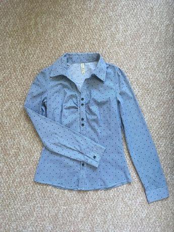Новая хлопковая женственная рубашка s, xs