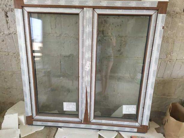 okno pcv złoty dąb - białe 1460 x 1420