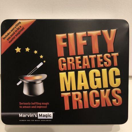 "Caixa ""Fifty greatest magic tricks"" da Marvin's Magic"
