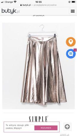 Spodnica SIMPLE 38 złota