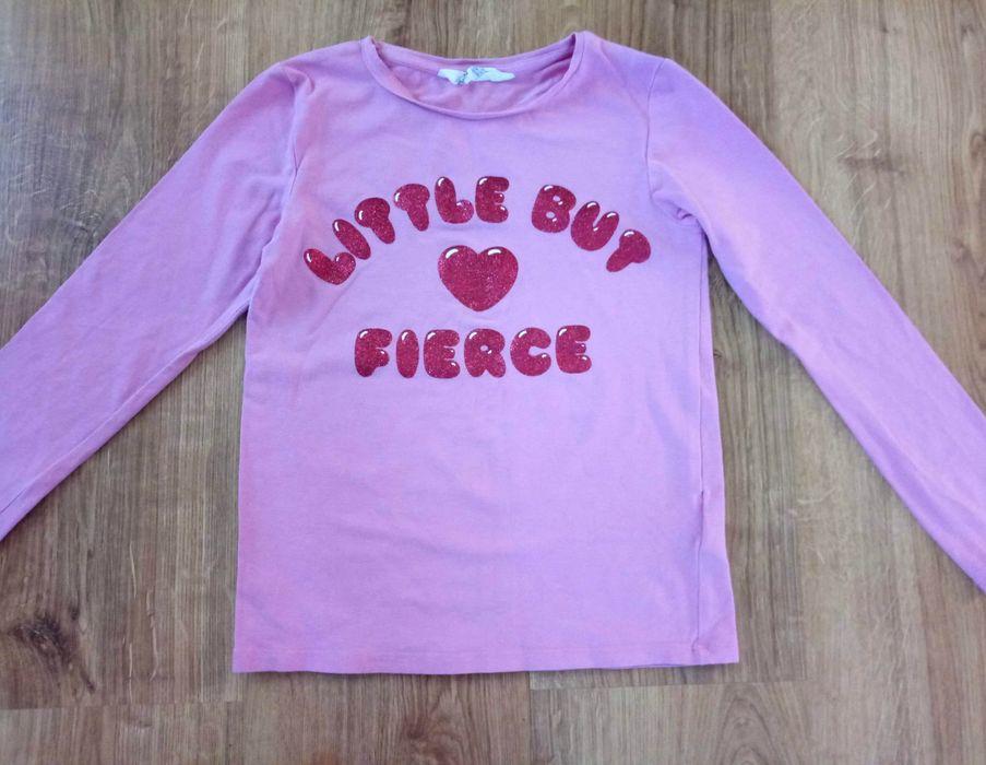 Bluzka H&M roz.122-128 cm / 6-7-8 lat koszulka różowa dziewczęca serce Kwidzyn - image 1