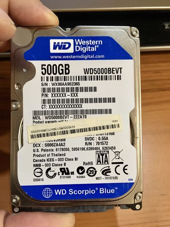 Жесткий диск WD Blue на 500 GB
