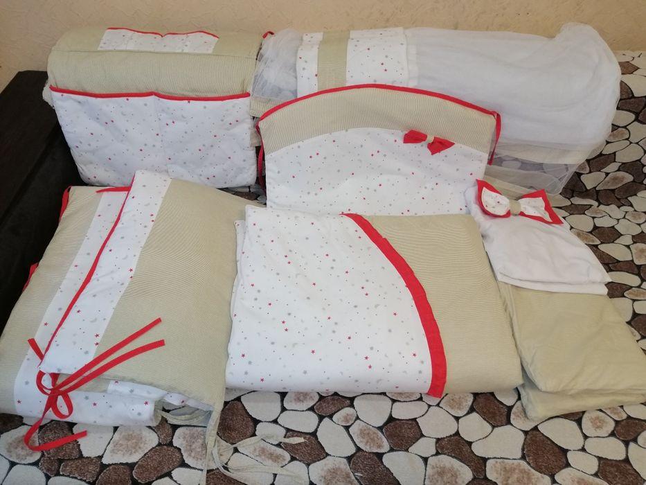 Продам комплект постельного белья в кроватку + держатель для балдахина Одесса - изображение 1