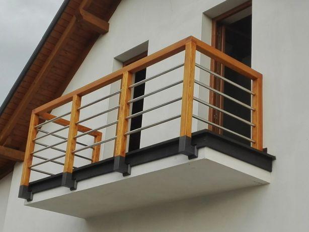 płot drewniany, ogrodzenia ,balustrada drewniana, krzyżaki, barierki