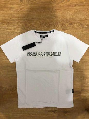 Karl Lagerfeld Koszulka Meska Haftowane Logo
