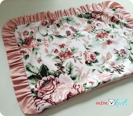 Pościel do łóżeczka GARDEN RÓŻE KWIATY 90x120 dla dziewczynki 100x135