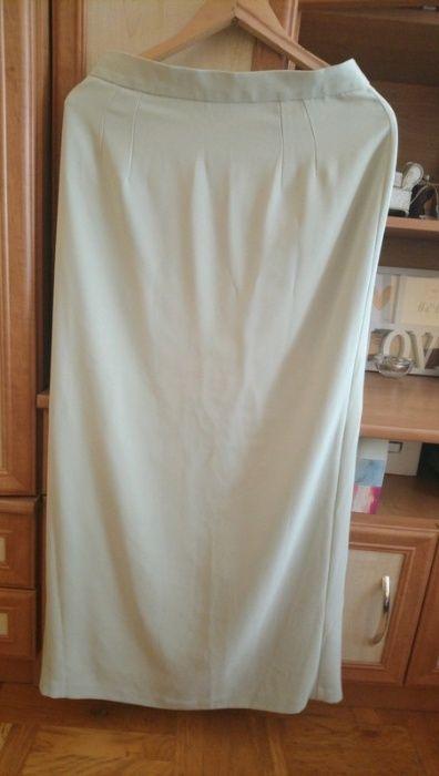 Zielona długa prosta spódnica z seksownym rozporkiem z tyłu L/XL Marki - image 1
