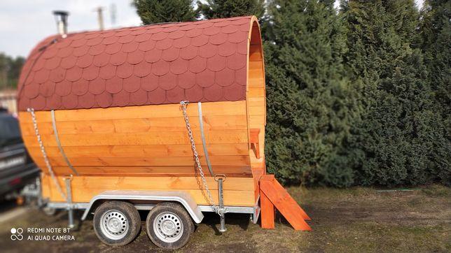 Sauna mobilna opalana drewnem