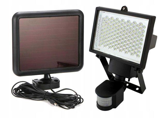 Lampa solarna reflektor halogen 120 LED z czujnikiem ruchu zmierzchu