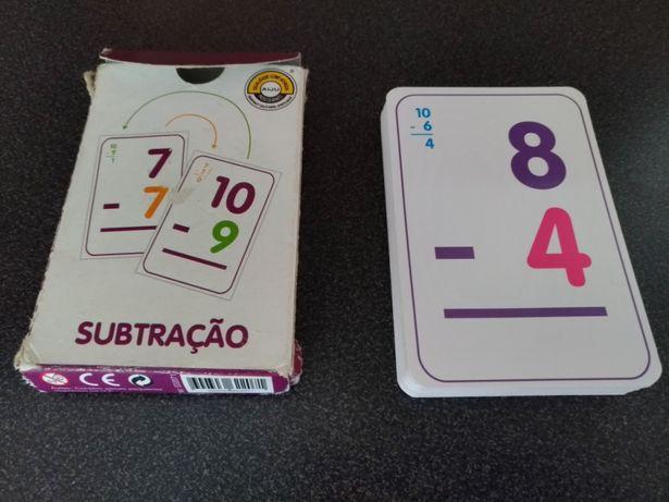 Baralho de cartas didáticas - Subtração