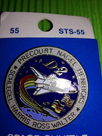 UNIKAT Wpinki NASA Chellenger STS-61A Columbia STS-55