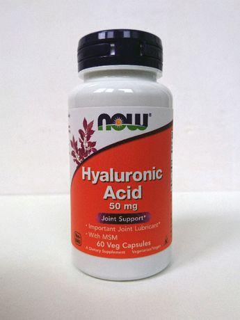 Гиалуроновая кислота с МСМ Now Foods, 50 мг, 60 капсул