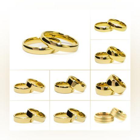 Eleganckie Złote Obrączki Ślubne DUŻY WYBÓR NOWE