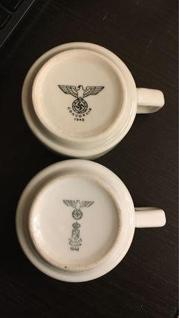Кофейные чашки армии Вермахта. Третий Рейх, свастика