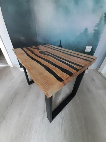 Stolik kawowy drewno żywica (loft)