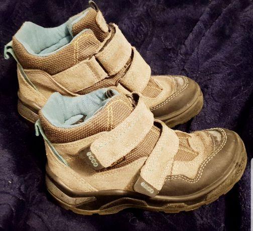 Ботинки ecco, еврозима, кожа, экко, сапоги.
