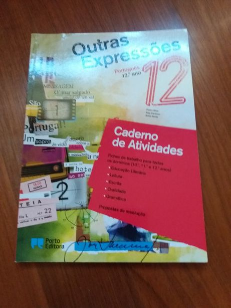 Caderno de actividades de Português Outras Expressões do 12 ano