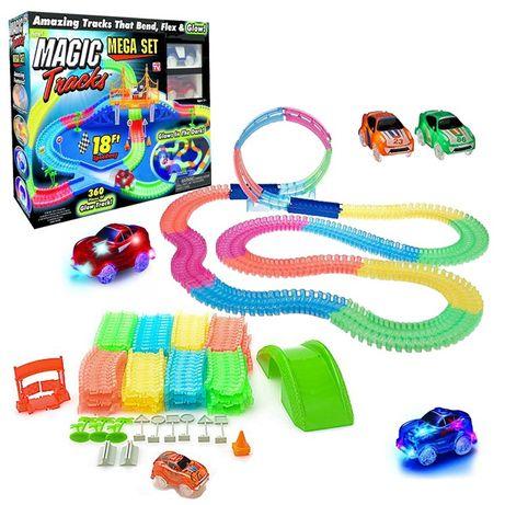 Детский конструктор гоночная трасса светящаяся дорога трек Magic Track