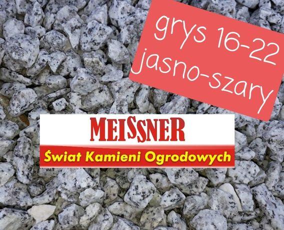 Grys granitowy dalmatyńczyk 16-22mm Meissner świat kamieni ogrodowych