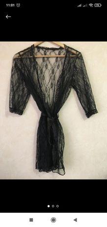 Кружевной халат, пеньюар, 36 р.