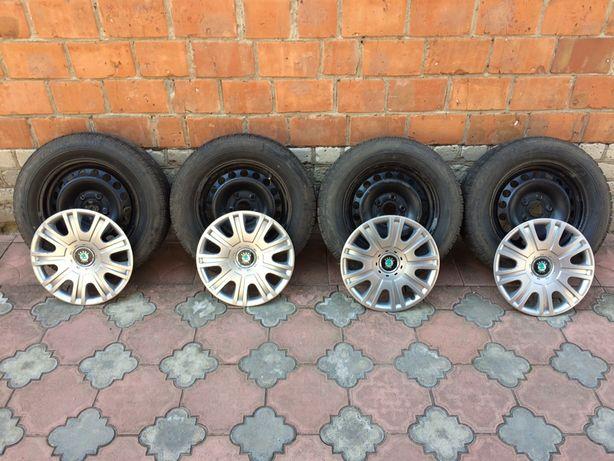 Оригинальные стальные диски 5*112 R15 Skoda Octavia A5 FL