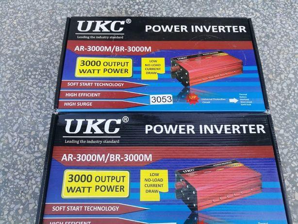 Преобразователь инвертор UKC 12V-220V 3000W