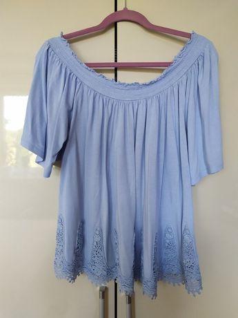 bluzka hiszpanka błękitna 46
